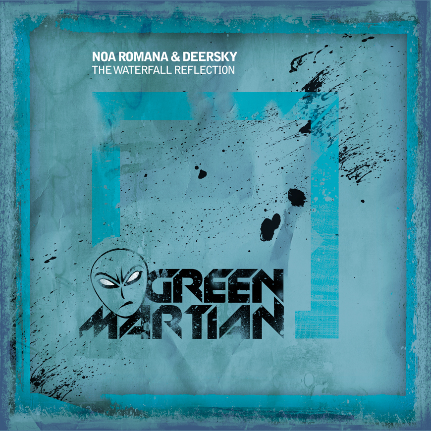 NoaRomana&DeerskyTheWaterfallReflectionGreenMartian870x870