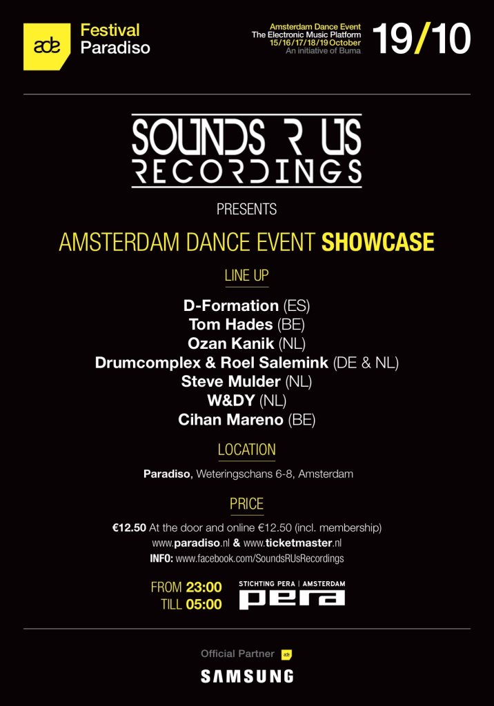 SOUNDS R US RECORDINGS – ADE 2014 @ PARADISO