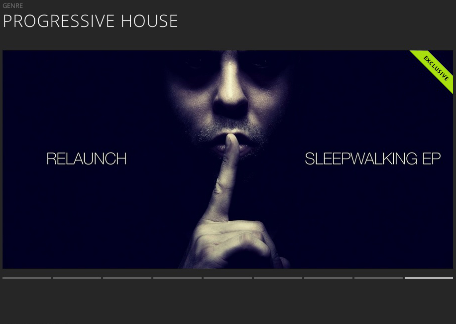 RELAUNCH – SLEEPWALKING EP FEATURED BY BEATPORT