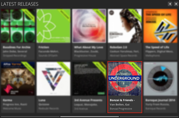 BONZAI & FRIENDS – UNDERGROUND PROGRESSIVE COLLECTION 2010 – 2014 FEATURED BY BEATPORT