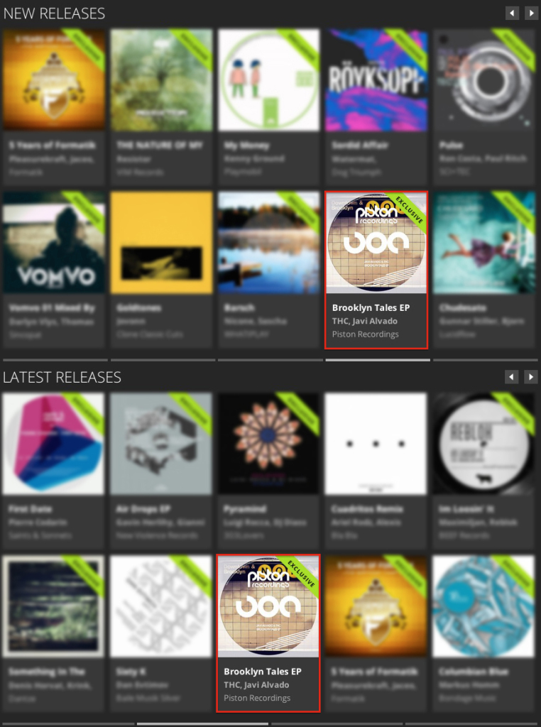 JAVI ALVADO & THC – BROOKLYN TALES EP FEATURED BY BEATPORT