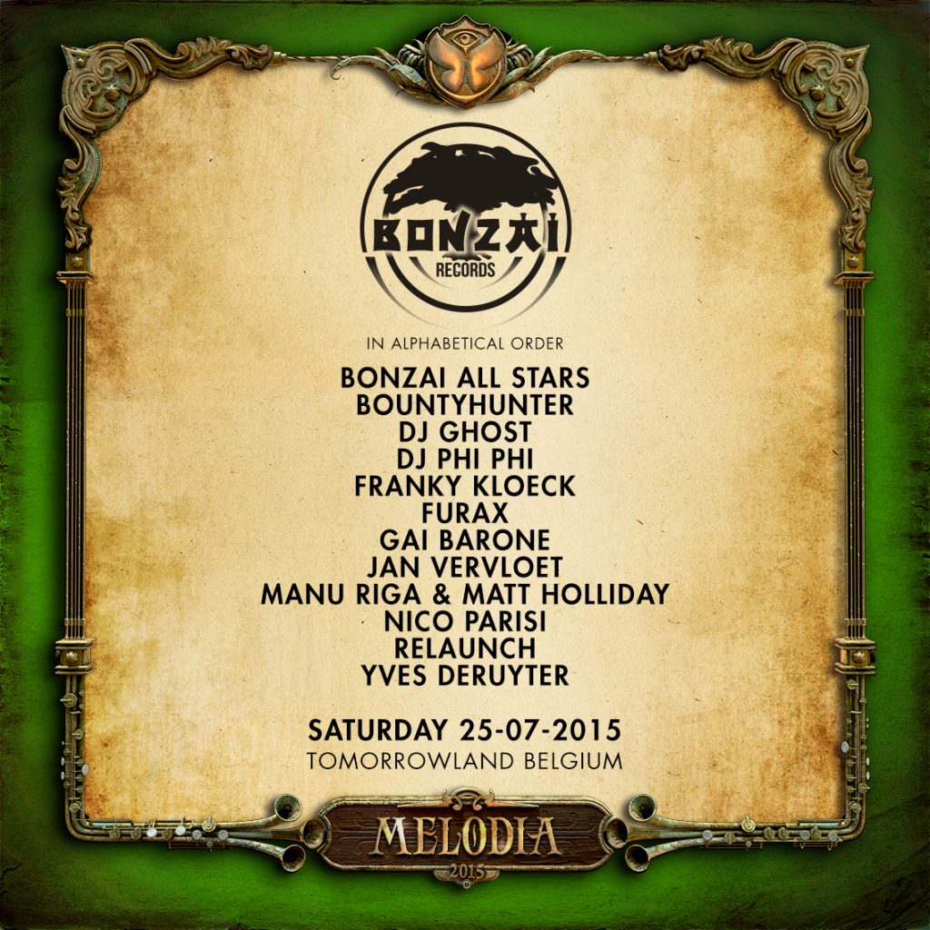 BONZAI GOES TO TOMORROWLAND 2015