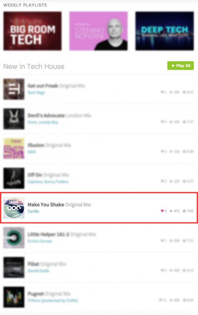 CERILLO – MAKE YOU SHAKE (ORIGINAL MIX) FEATURED BY BEATPORT