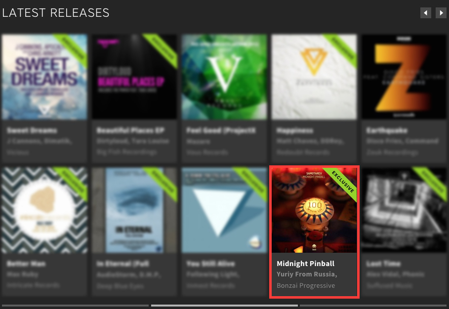 SAMOTAREV – MIDNIGHT PINBALL FEATURED BY BEATPORT
