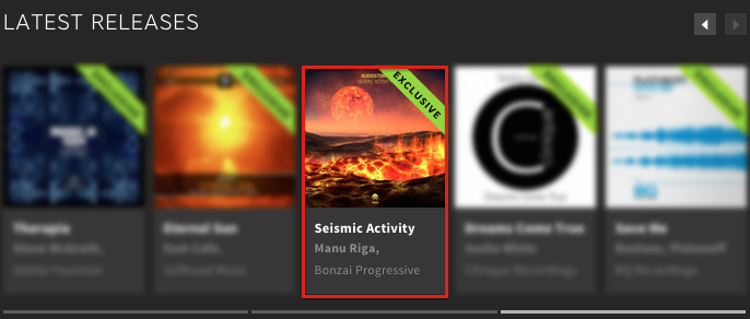 AUDIOSTORM – SEISMIC ACTIVITY FEATURED BY BEATPORT
