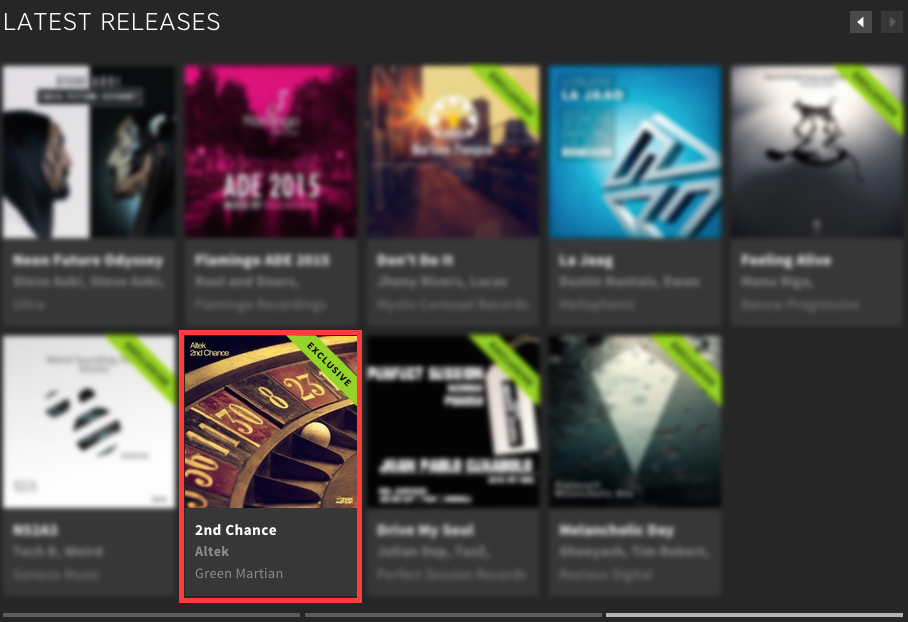 ALTEK – 2ND CHANCE FEATURED BY BEATPORT