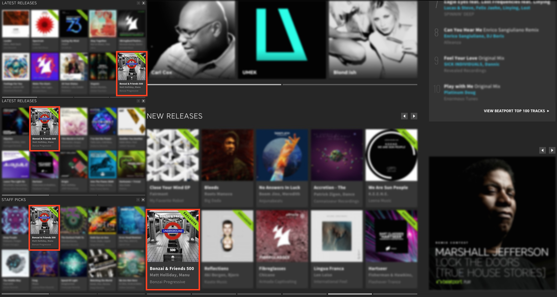 BONZAI & FRIENDS 500 FEATURED BY BEATPORT