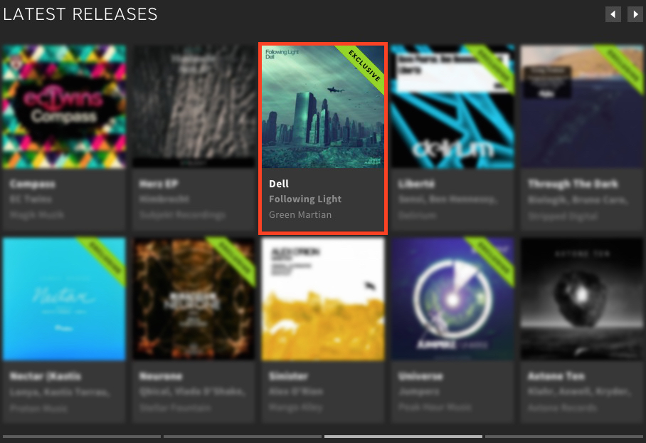 FOLLOWING LIGHT – DELL FEATURED BY BEATPORT