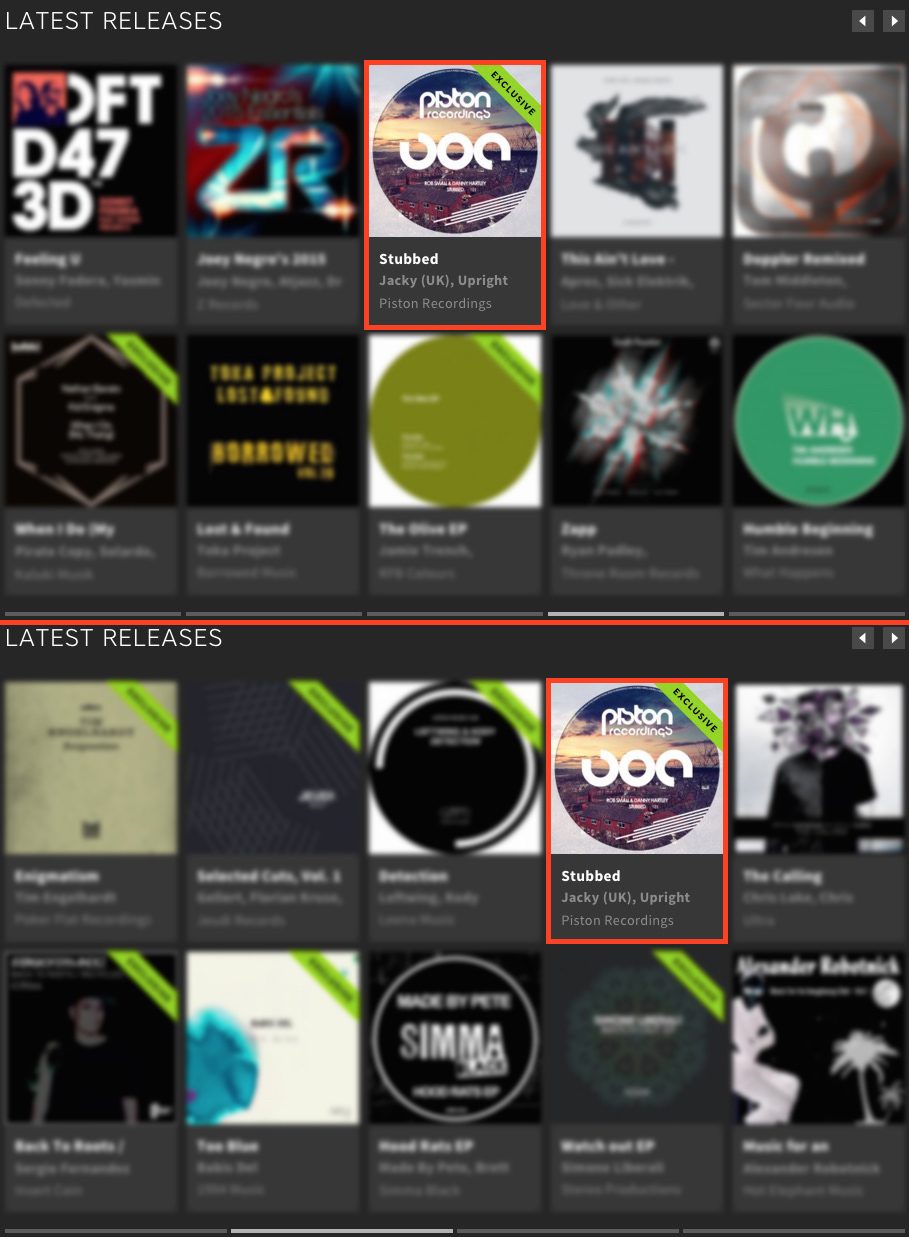 ROB SMALL & DANNY HARTLEY – STUBBED FEATURED BY BEATPORT