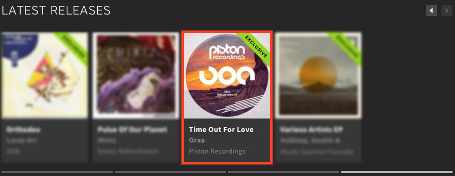 ORAA – TIME OUT FOR LOVE FEATURED BY BEATPORT