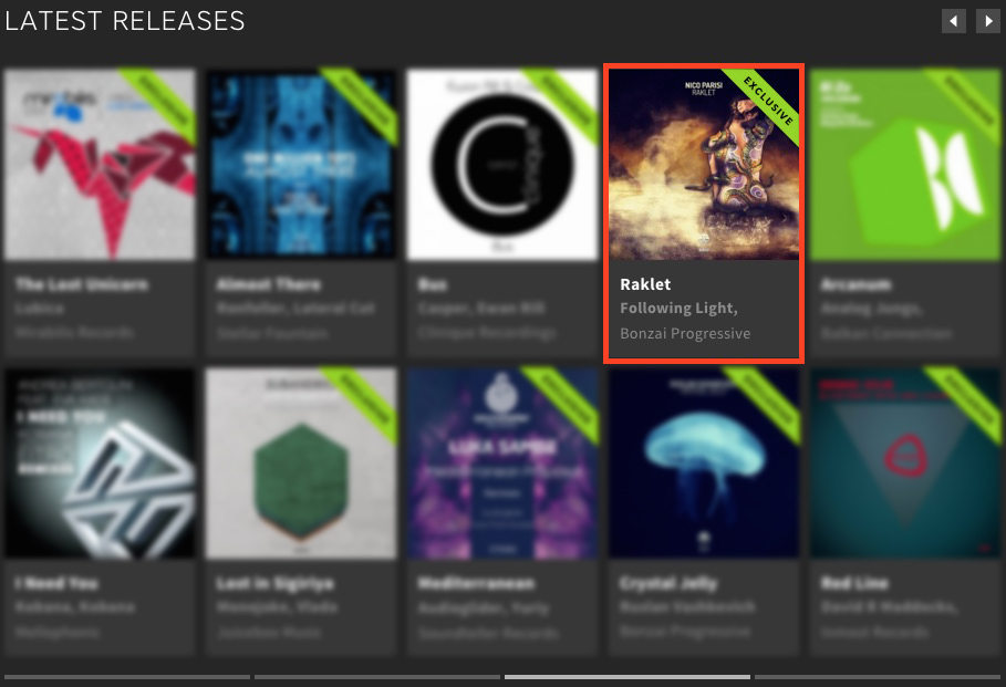 NICO PARISI – RAKLET FEATURED BY BEATPORT