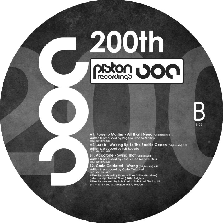 VARIOUS ARTISTS – 200TH (PISTON RECORDINGS) – VINYL RELEASE