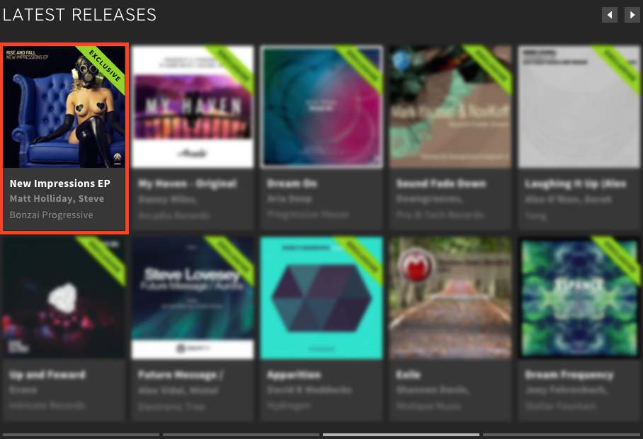 RISE AND FALL – NEW IMPRESSIONS EP FEATURED BY BEATPORT
