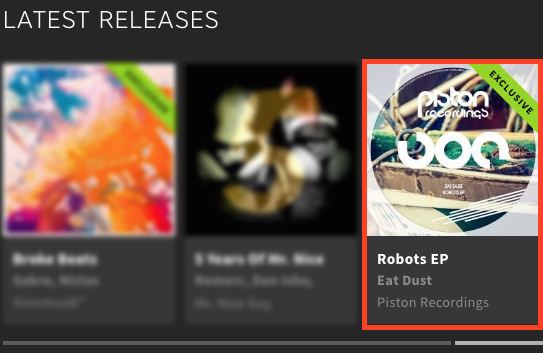 EAT DUST – ROBOTS EP FEATURED BY BEATPORT