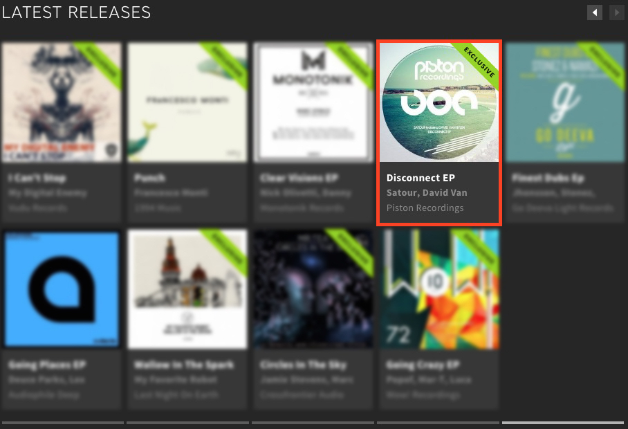 SATOUR FEATURING DAVID VAN BYLEN – DISCONNECT EP FEATURED BY BEATPORT
