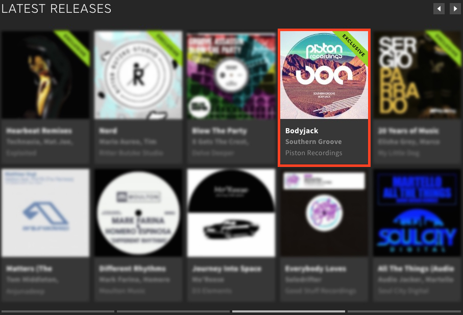 SOUTHERN GROOVE – BODYJACK FEATURED BY BEATPORT