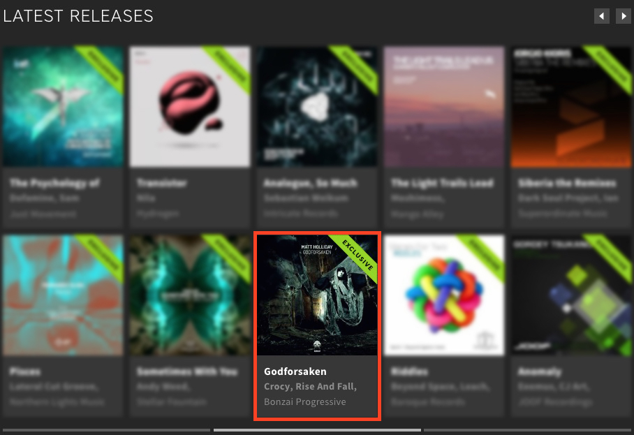 MATT HOLLIDAY – GODFORSAKEN FEATURED BY BEATPORT
