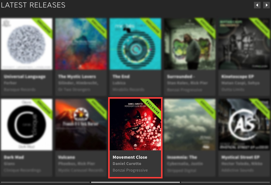 DANIEL CUROTTO – MOVEMENT CLOSE BEHIND FEATURED BY BEATPORT