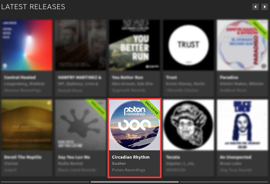 GUSHER – CIRCADIAN RHYTHM FEATURED BY BEATPORT