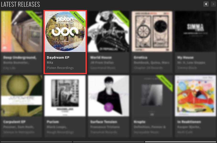 RITZ – DAYDREAM EP FEATURED BY BEATPORT
