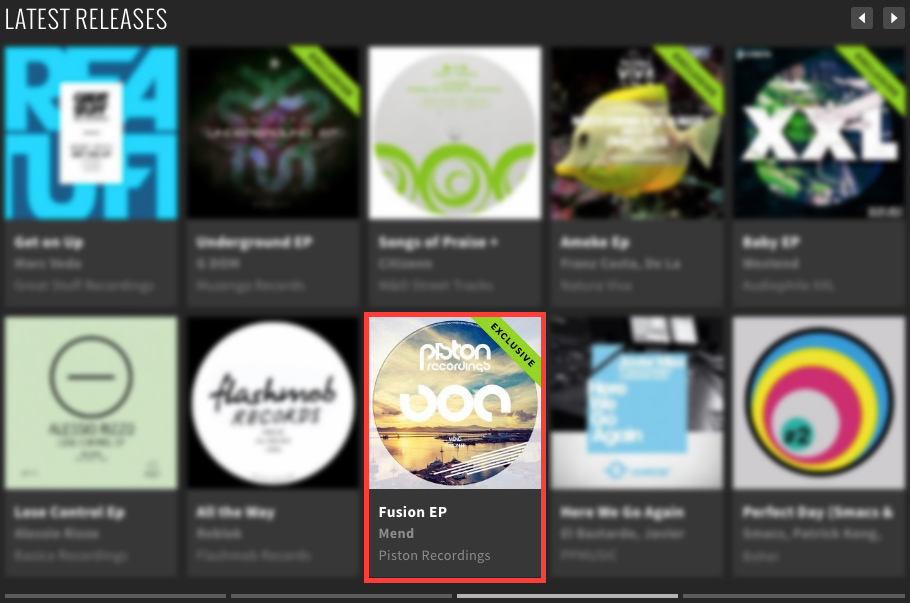 MEND – FUSION EP FEATURED BY BEATPORT