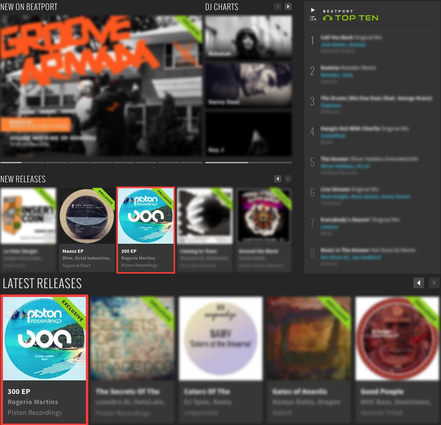 ROGERIO MARTINS – 300 EP FEATURED BY BEATPORT