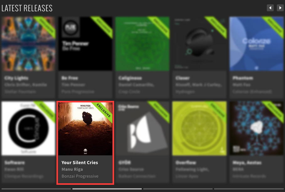 MANU RIGA – YOUR SILENT CRIES FEATURED BY BEATPORT
